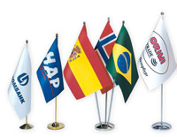 Флаги на флагштоках